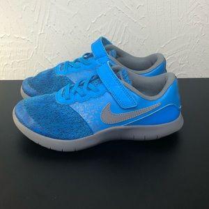NIKE Boys Blue Flex Contact Shoes
